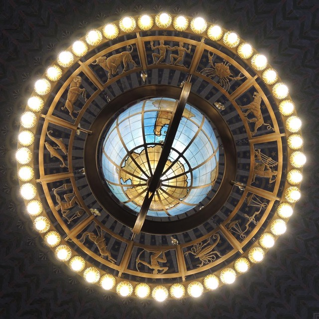 Chandelier at the Union Station