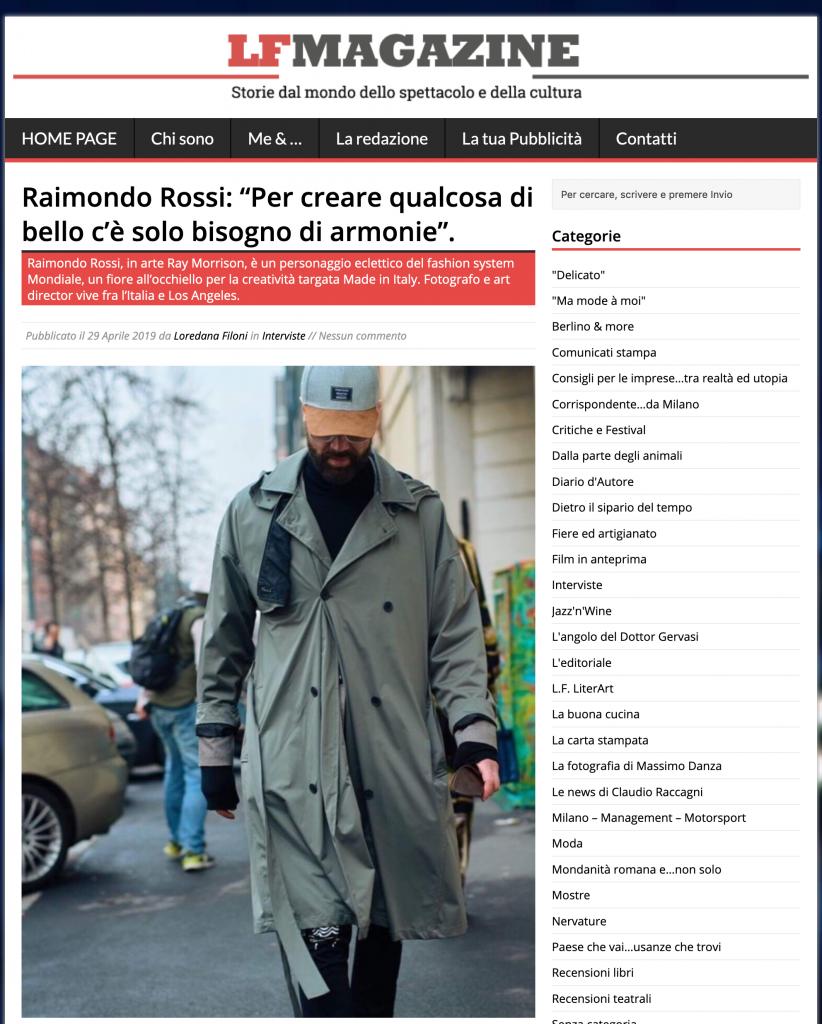 LF Magazine - Ray Morrison (Raimondo Rossi)