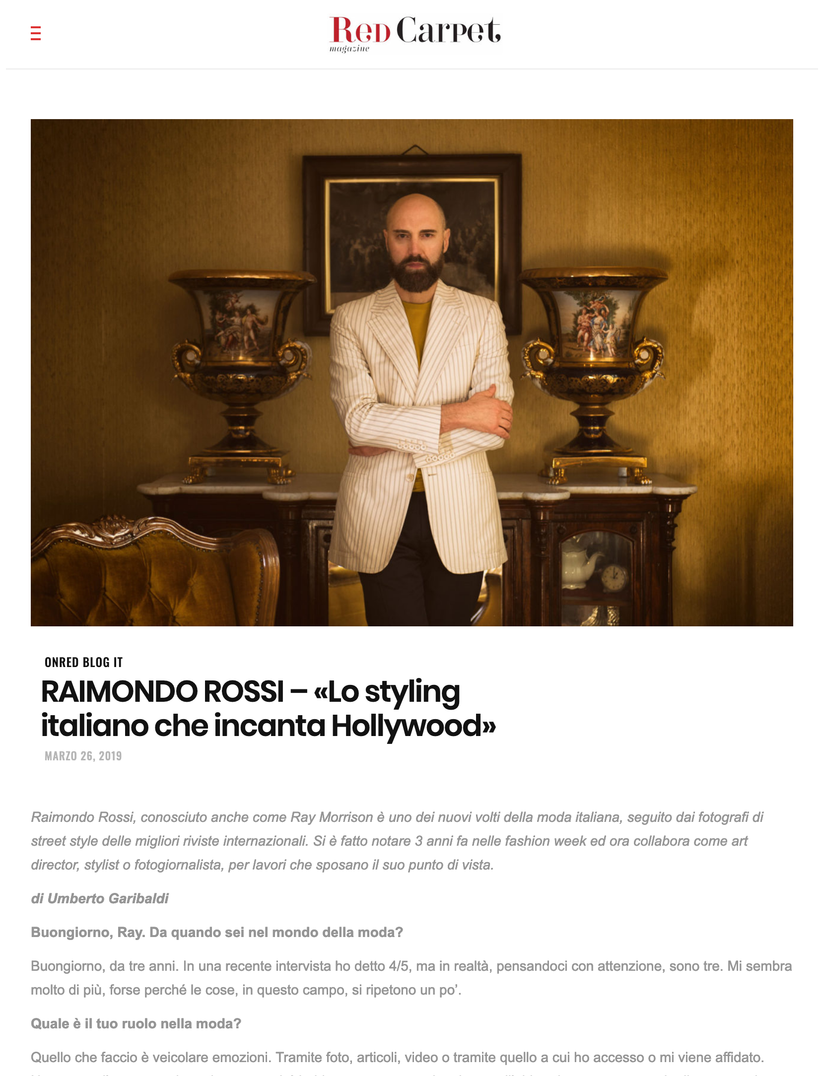 Red Carpet - Ray Morrison (Raimondo Rossi)