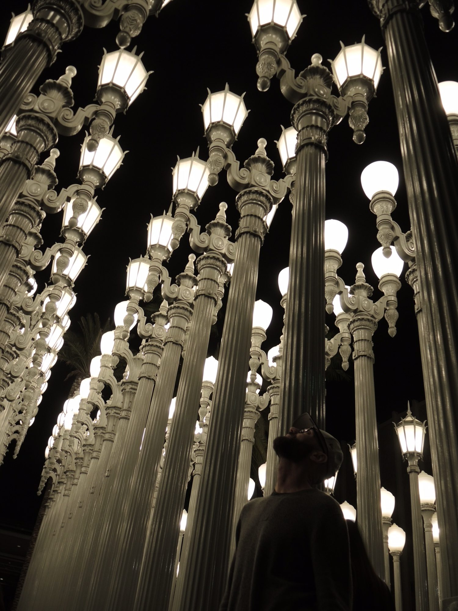 Urban Lights, fron Chris Burden, at the LACMA. The Style Researcher Magazine
