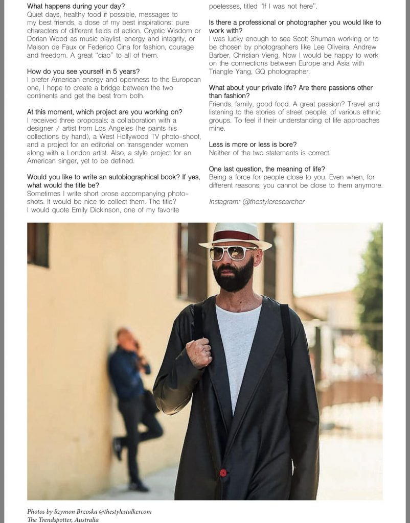 Sir-K Magazine - Ray Morrison (Raimondo Rossi) - The Style Researcher