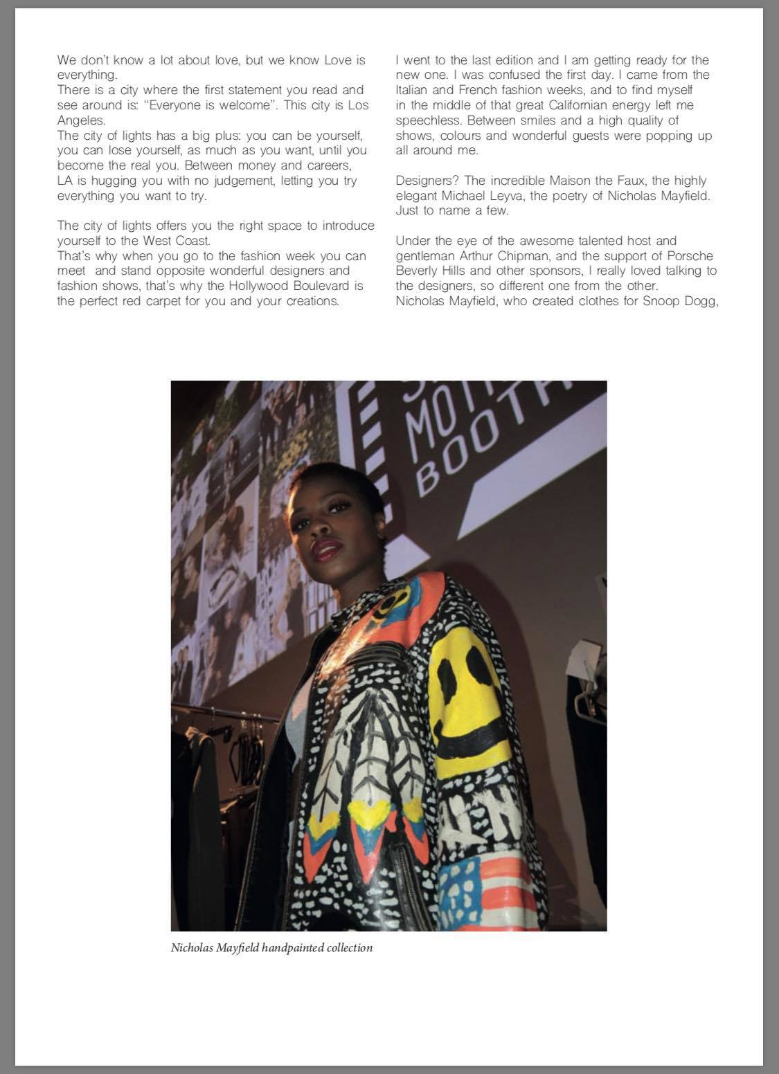 Article Of Photojournalism For The Los Angeles Fashion Week Sir K Magazine The Style Researcher Raimondo Rossi Ray Morrison The Style Researcher Magazine
