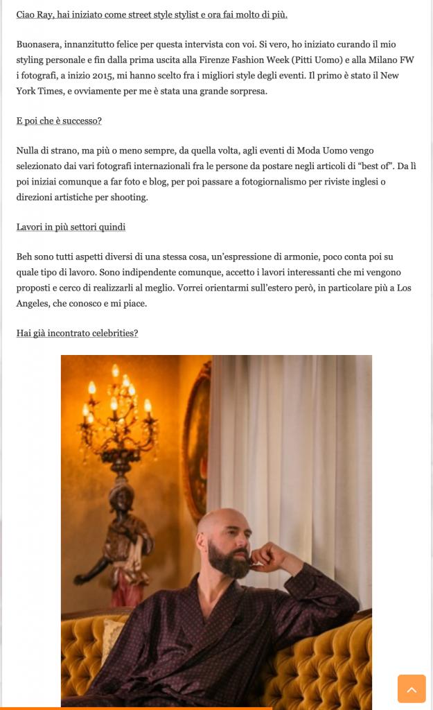 La Gazzetta dello spettacolo - Ray Morrison (Raimondo Rossi)