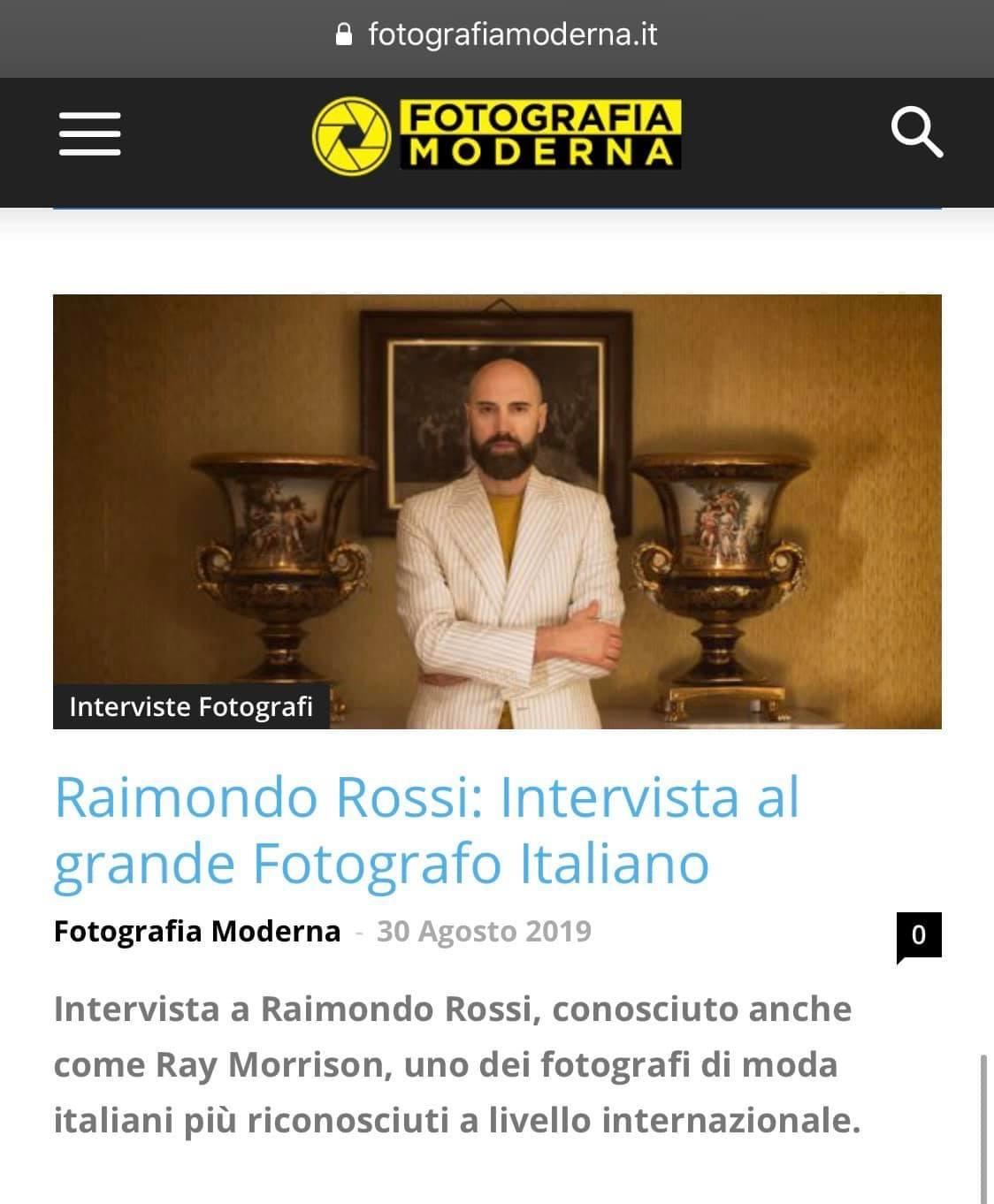 Raimondo Rossi Ray Morrison Fotografia Moderna