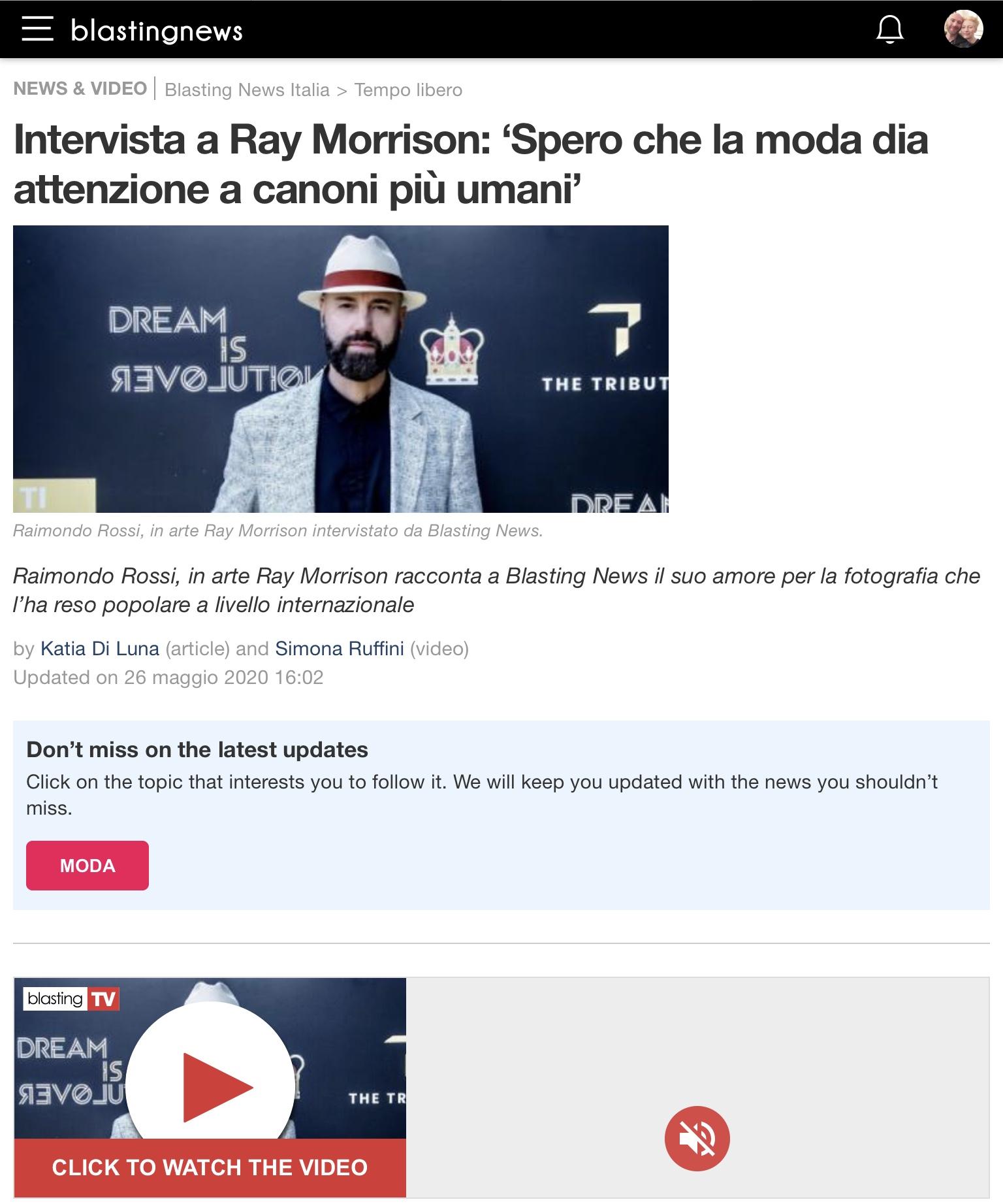 Raimondo Rossi Ray Morrison Blasting News