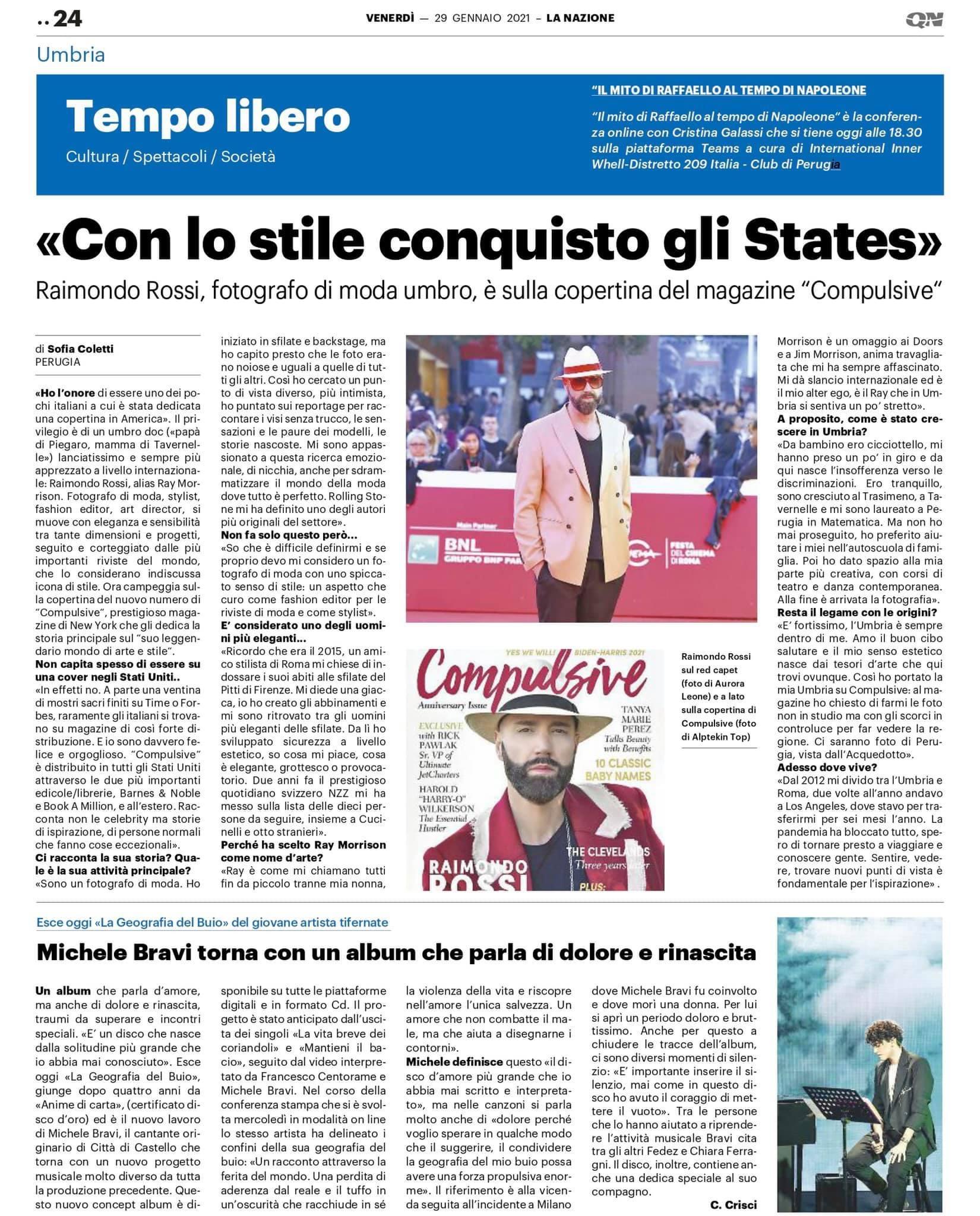 Raimondo Rossi Ray Morrison Compulsive La Nazione